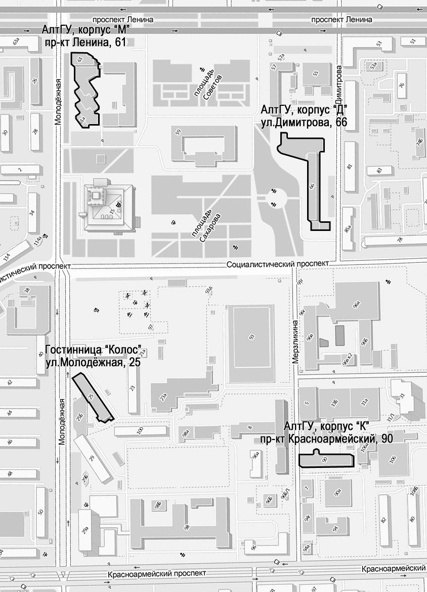 Карта места проведения школы-семинара