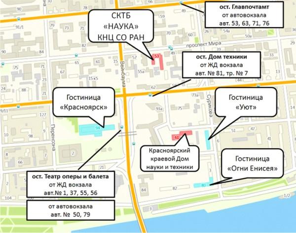 Карта гостиниц